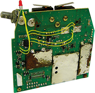 Competitor's damage to a circuit board
