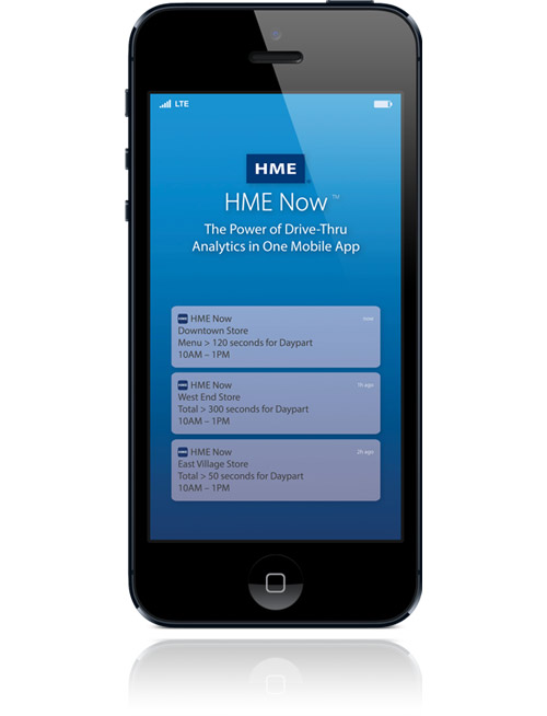 HME Now App displayed on mobile device